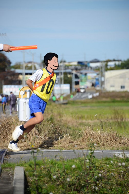 水戸市常澄地区の学区対抗 小・中学生駅伝大会が行われました。