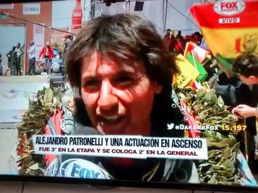 アルゼンチンのクワドライダーですね。第五ステージは3位、トータル2位のようですね。
