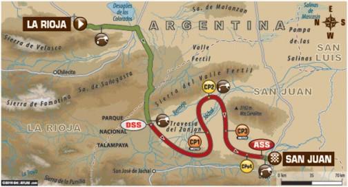 しょっぱなから関係ない話になってしまった・・・ダカール第11ステージ、ラ・リオハ→サン・フアンは移動区間が281キロ、スペシャルが431キロで争われます。
