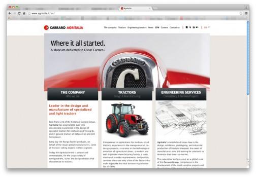 カラーロはイタリアの会社で1958年設立と比較的若い会社。現在はいろいろな会社のトラクターをOEM生産しているみたいですね。