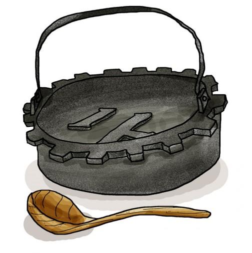 久保田鉄工の鋳物の鉄鍋に・・・