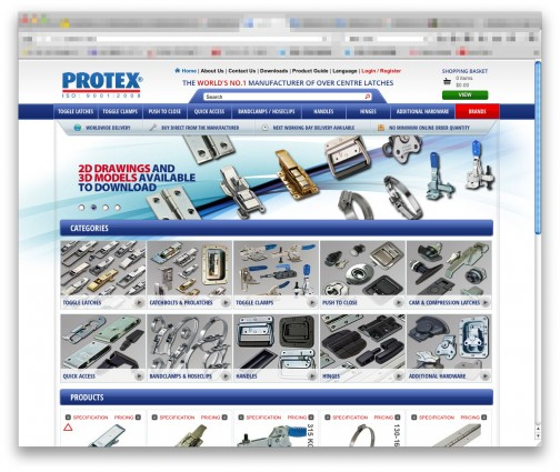 調べてみました。PROTEXというイギリスの会社。(http://www.protex.com/)これは楽しい!! 意味もなく欲しくなっちゃいます。ADDITIONAL HARDWARE にあるロータリートリムラッチ、見たことある!
