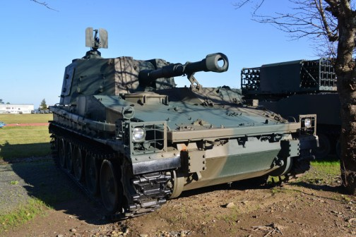 なぜ気になるかというと、こちら74式自走105mm榴弾砲。