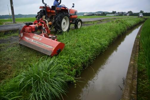 7月27日のスライドモア草刈り