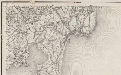 ちょっと拡大してみる。島地区は昔大場村だったんだな・・・隣は稲荷村か。寺坪、中坪と坪が付く地名がある・・・どういう意味なんだろう。涸沼も大きかったなあ。