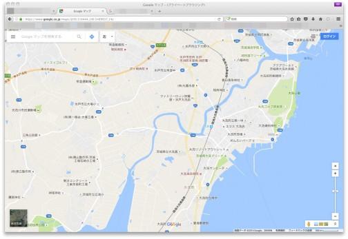 現在の地図と比べてみる。お!常澄中の下の道、県道40号線は昭和6年から変わってない!見比べてみると、集落センターの前の細い道がメインストリートだったみたいだなあ・・・