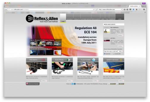 これも探してみました。(http://www.reflexallen.com/)リフレックス&アレンというイタリアの会社で、2013年の記事では日本法人を設立した・・・という記事が見受けられるのですが、日本語HPは見つかりませんでした。
