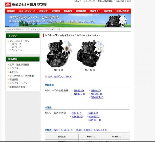 エンジンはシバウラ製みたいです。