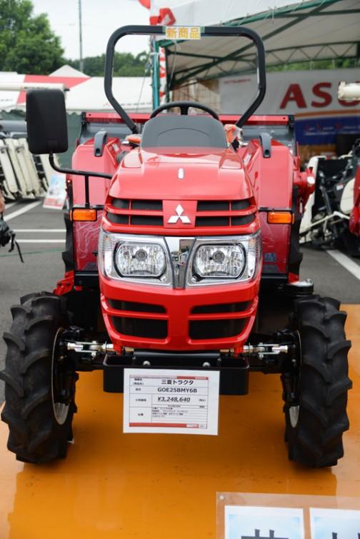 三菱マヒンドラ農機トラクタGOE25BMY6B 価格¥3,248,640 25馬力 マニュアル仕様 倍速旋回 クイックアップ バックアップ 耕深マイコン制御 水平マイコン制御 1M60ロータリ