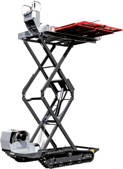 やっぱりKIORIZのブランドで有限会社河島農具製作所がつくっていました。果樹用高所作業機はこのように伸びるみたいです。