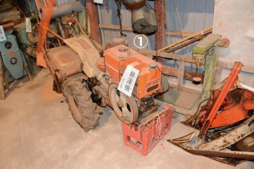 ①耕耘機 昭和30年頃 クボタの耕耘機です
