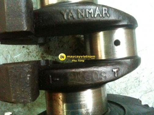 ベトナムのサイトでクランクの写真を見つけました。中古部品を売っているところがあるんですね。ちょうどヤンマーディーゼル2W90S型です。