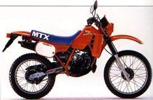1983年に「X」が付いたMTX125R