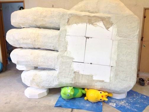 2015年には水戸芸術館のREMITO100の街中展示として「ダイダラボウの手」を作ったんでした。