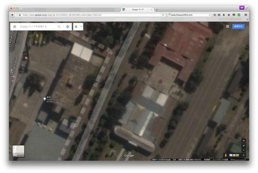 ビデオの中の特徴的な建物・・・ありました。これですね!