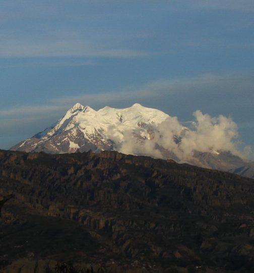 ラパスの写真によく出てくるこの山、イリマニさんというそうです。