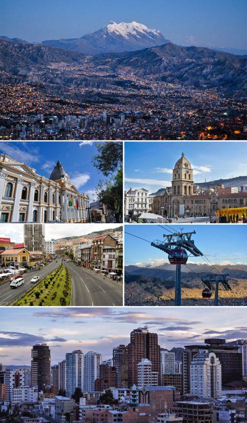 写真はWikipediaより。人口は70万人強、ヌエストラ・セニョーラ・デ・ラ・パス・・・「私たちの平和」という意味でしょうか・・・自然は厳しそうですけど、きれいな街ですね。