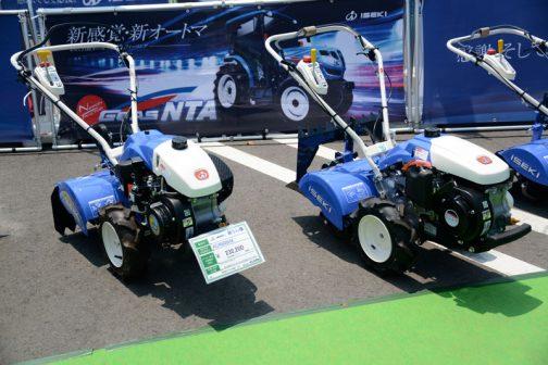 左イセキ耕耘機 KCR505HX 価格¥232,200 右・・・あれ?値段がどっかに行っちゃった・・・