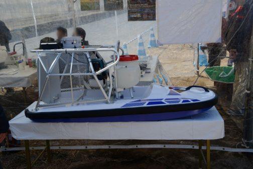 ヤマハのボートも脇に置いてありました。こちらのほうは去年の記事に詳しいのでそちらを見てくださいね!