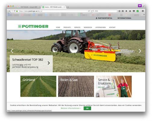 ポッティンガーはアッパーオーストリア州、グリースキルヘンという町で1871年の創業された会社でした。