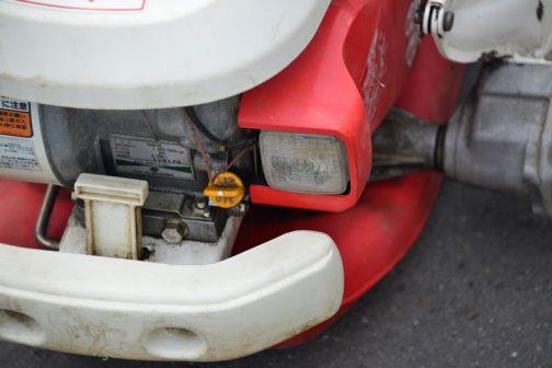 エンジンはヤンマーガソリンエンジン GA90SR 連続定格出力 1.9PS/1600rpm 最大出力 3PS 総排気量 0.088ℓ