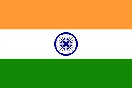 インドの国旗も左右対称のようですが、90度回転したデザインにしてしまっています。