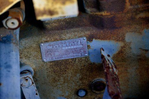 こちらはトラクターの銘板。古いクボタは銘板が赤ですよね!
