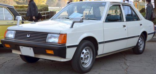 三菱・・ランサーEX(2代目) 1400GL 販売期間1979年3月 - 1987年10月 写真はWikipediaより。