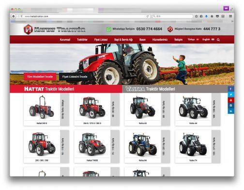 WEBページを見てみると、マッセイファーガソン風のトラクターやヴァルトラが並んでいます。どちらかといえばライセンス生産や委託生産のメーカーなのでしょうか?正式にはHattatTarımというようで、Hattat Holding傘下でHattat、Valtra、 Ursusブランドの農業用トラクターを製造しています。