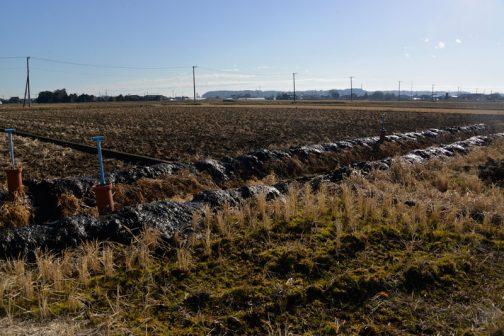 そして排水路の泥上げ2本目も終わりです。