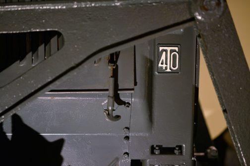 それからちょっとした疑問が持ち上がりました。サイドにT40のマーク。キャプションなどには「トラクターG40に排土板をつけてブルドーザーとした」用なことが書いてありますが、もしかしたら、「トラクターT40に排土板をつけてブルドーザーG40とした」のかもしれませんね!