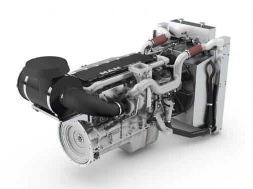 MANの6気筒12.4リッター!エンジンです。517馬力って・・・ただ、MANのエンジンにはまだ上があって、24.2リッターというのもあるみたいです。船用ですけど・・・海のように広い麦畑やトウモロコシ畑で働くのですから、船みたいなもんですね。