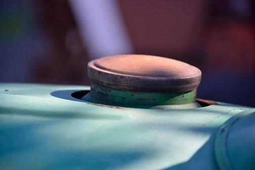 タンクキャップは錆が出てきてしまっています。