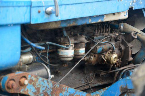 County 1164 6気筒6.6Lのディーゼルエンジン。燃料ポンプにはMINIMECと書いてあります。