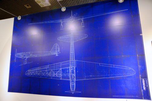 航空研究所試作長距離機 縮小三面図 1936(昭和11)年頃 東京帝国大学航空研究所製 全幅:27.93m、全長:15.06m、全高:3.60m、自重:4225瓩(kg)、搭載原動機:川崎製BMW9型700馬力 馬力改良型、航続距離:12,740粁(km)、航続時間:68時間40分、巡航速度:180〜200km/h、初飛行:1937(昭和12)年。