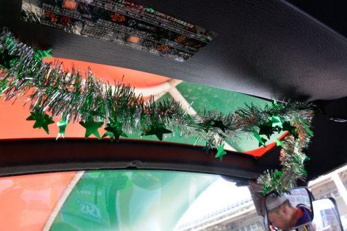 新型レクシア・クボタMR1000 な、内部までモールが・・・クリスマス感が出ています。