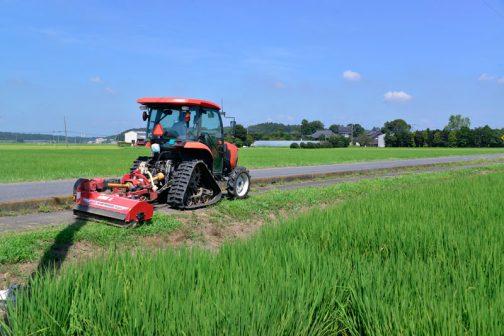 お盆を過ぎると島地区の人たちは飼料稲の収穫なんですよね・・・この暑さの中ですから、ホントご苦労様です。