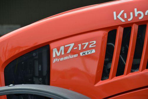 クボタM7-172 premium KVTです。 今まで見たものは末尾が1になっていました。これは末尾が2になっています。