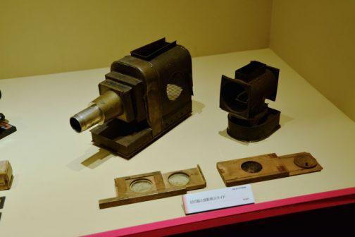 明治時代 幻灯器と投影用スライド