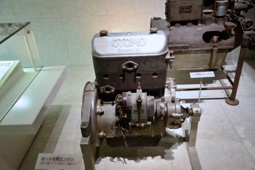 エンジンの実物が展示されています。