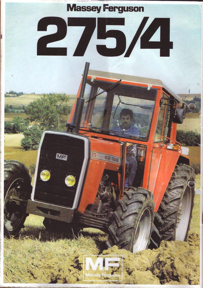 フランス土産に貰った雑誌の裏表紙にあった写真。おなじみの四角い顔、マッセイファーガソンMF275です。MF275はtractordata.comによると、1977年〜1987年。Perkins A4.236 4気筒3.9リッターディーゼルで70馬力/2000rpmとなっています。
