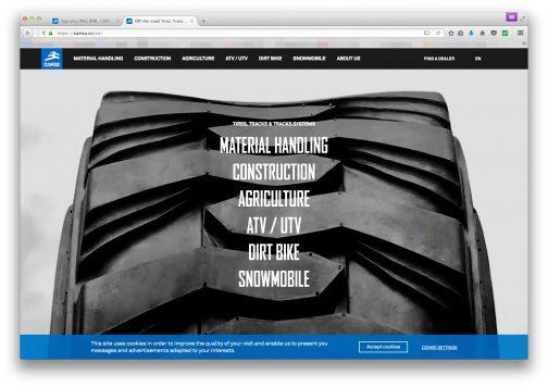 カッコいいWEBページ。最近ミシュランに買収されてオフロード関係の商品を扱っているみたい・・・
