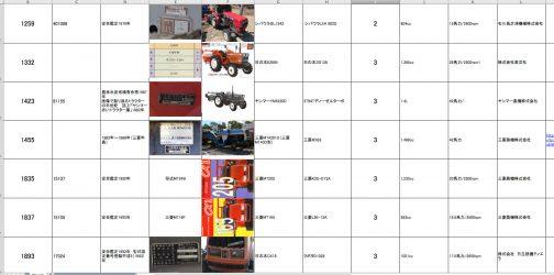 集計中のトラクターデータシートでは、今のところ一番最後。三菱MT205/MT165の後ろにつきました。