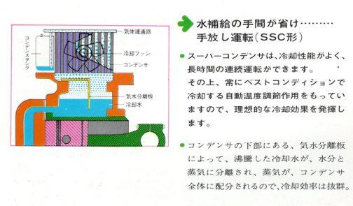 SSC形にはスーパーコンデンサというものが乗っているため、冷却性能がよく、長時間の連続運転ができる・・・ラジエターではなく、コンデンサ・・・