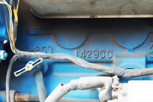 運輸省型式認定番号農1214号は、LEM8531429cc3気筒ディーゼルエンジン搭載ということになっています。ShioikaさんのFORD1720のエンジンは◯(←ちょっと読みにくいがLでも矛盾なし)EM8531429ccで一致しているとみてよいと思います。