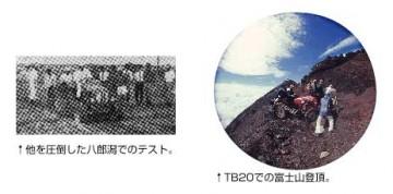 イセキTB-20の富士山登頂写真