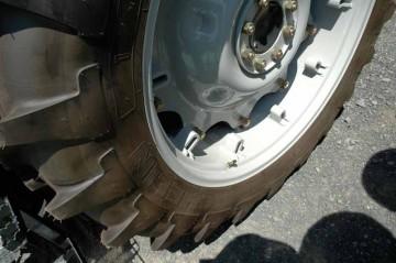 トラクターのタイヤ