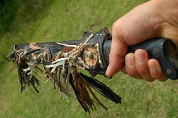 馬具屋さんで買った鞘が付いてるんで錆びなかったのでしょうか