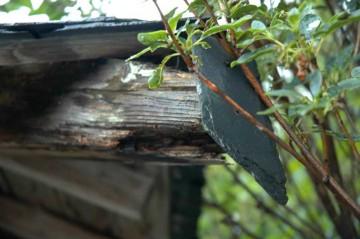 木口のキャップまで天然スレート