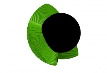 それらしくなるように緑の色をつけて・・・巻き付けかたは適当で実際には基づいていません。